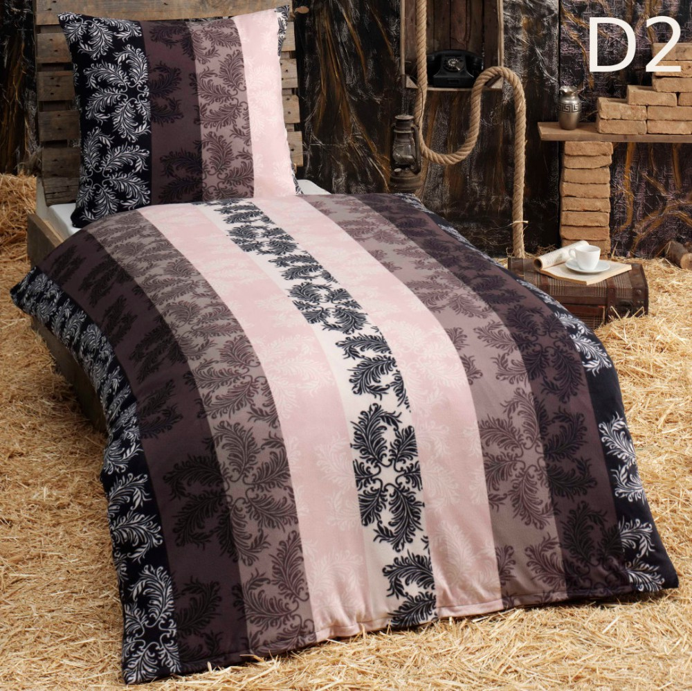 2 tlg microfaser kuschel flausch fleece winter bettw sche 155x220 eric ebay. Black Bedroom Furniture Sets. Home Design Ideas