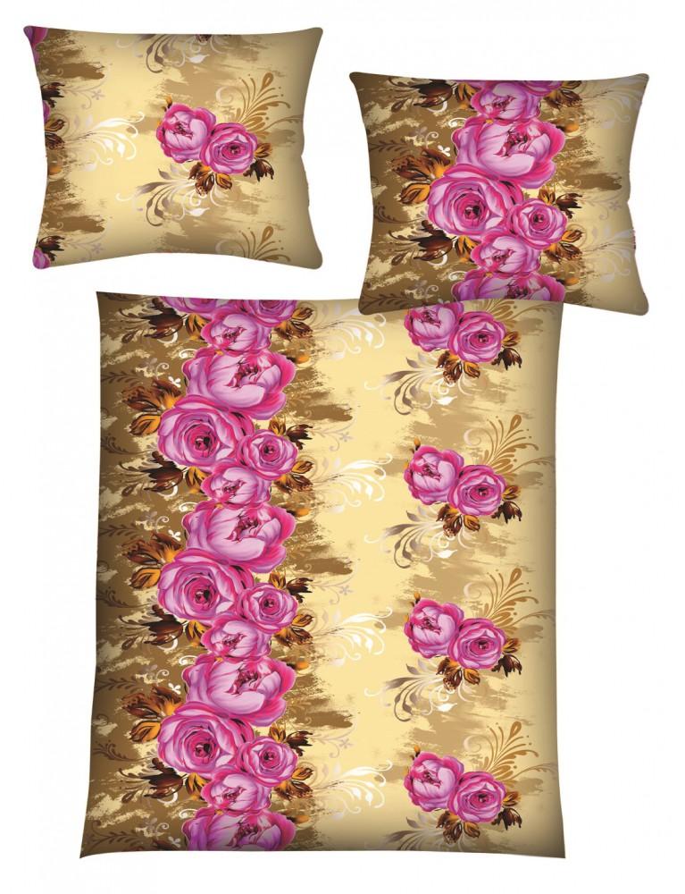 4 tlg microfaser fleece winter bettw sche 135x200 rose. Black Bedroom Furniture Sets. Home Design Ideas