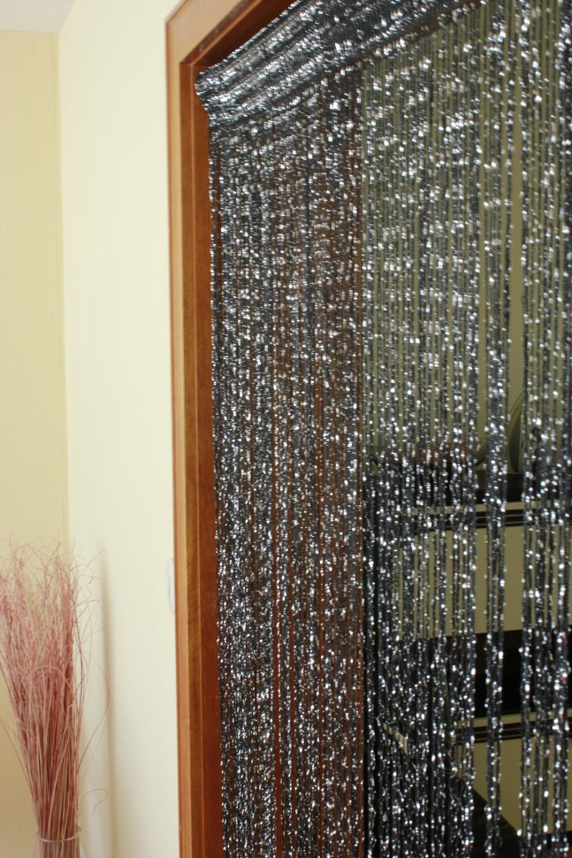fadenvorhang mit glitzer t rvorhang fliegenschutz vorhang. Black Bedroom Furniture Sets. Home Design Ideas