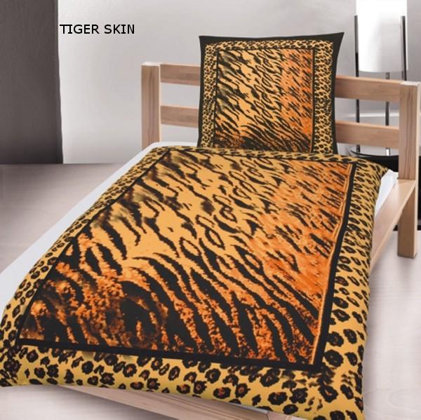 2 tlg microfaser bettw sche tiger 135x200 neu mit rv beste qualit t ebay. Black Bedroom Furniture Sets. Home Design Ideas