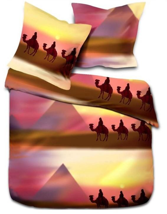 2 tlg microfaser bettw sche gypten pyramide 135x200 od 155x220 neu ebay. Black Bedroom Furniture Sets. Home Design Ideas