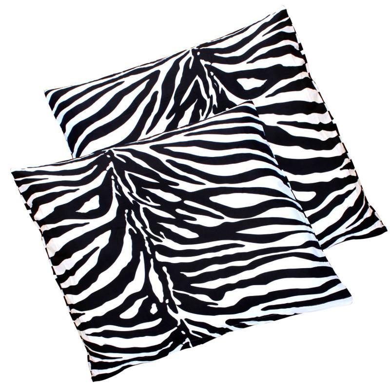 2er pack zebra microfaser kissen kissenbezug kissenh lle. Black Bedroom Furniture Sets. Home Design Ideas