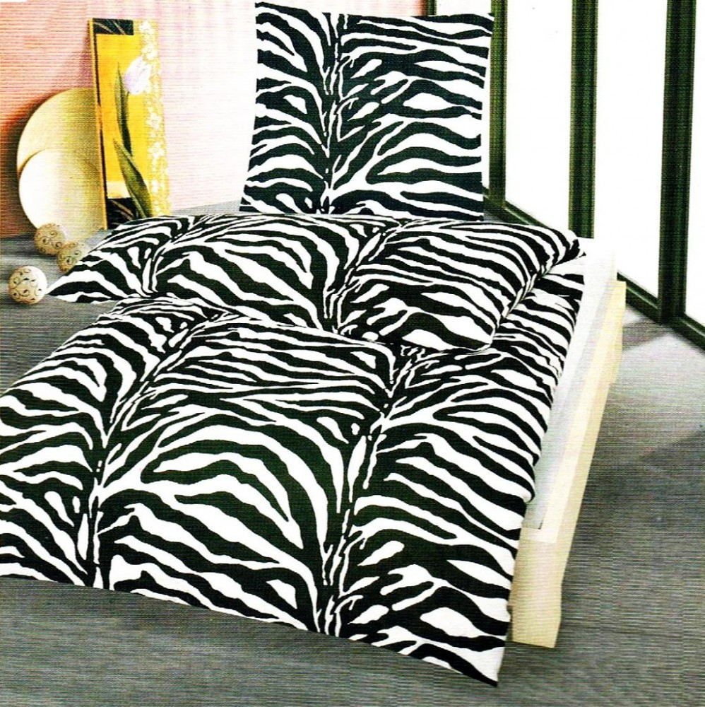2 tlg microfaser thermo fleece winter bettw sche 155x220 1x 80x80 zebra ebay. Black Bedroom Furniture Sets. Home Design Ideas